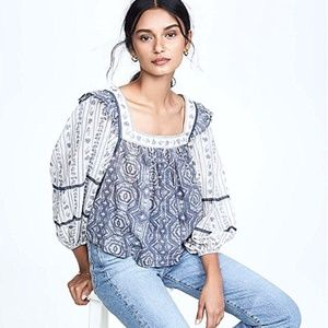 Free People Mostly Meadow Blouse NWT